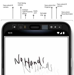Смартфон Google Pixel 4 с сенсорами Soli