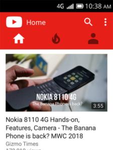 YouTube на телефоне с KaiOS